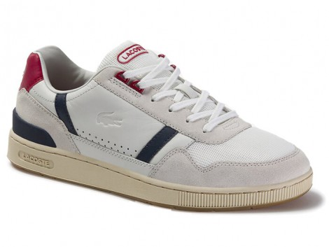 BUTY LACOSTE T-CLIP LEATHER 120